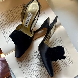 Escada Satin, Velvet Evening Slingback Pump 7